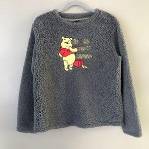 NWOT. Disney Pooh fuffy faux fur sleepwear sweater
